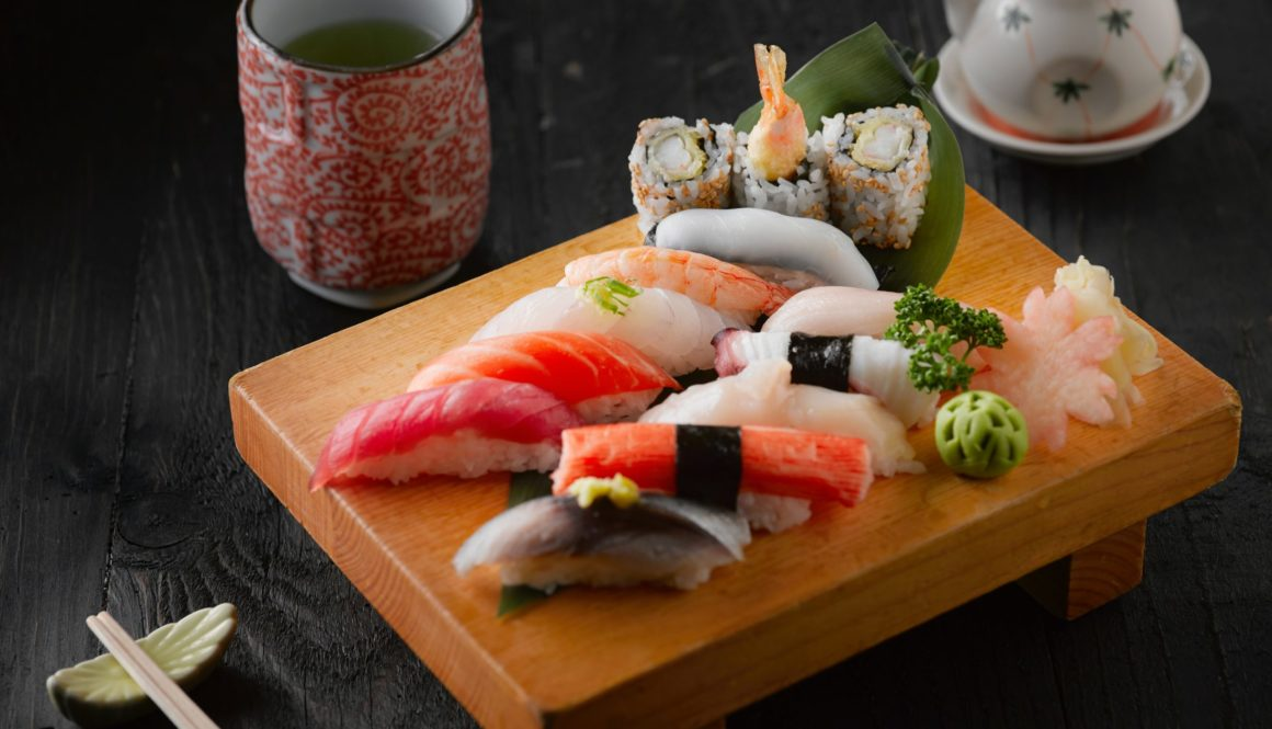 sushi-on-brown-wooden-board-2098085